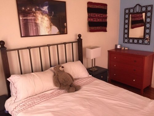Here is another angle of Lindsey & Sean's private bedroom at The Barton Springs SWAP Loft.